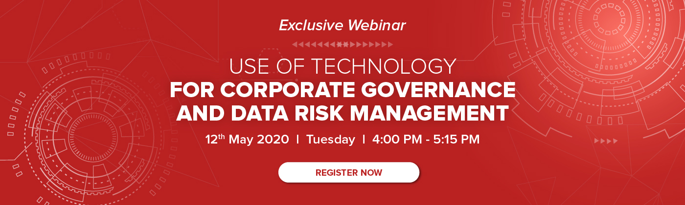 Use of technology for corporate governance and data risk management