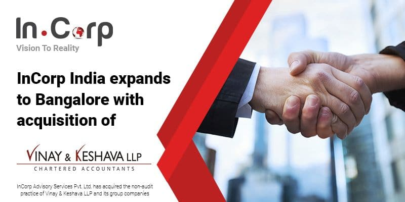 InCorp India Expands To Bangalore With Acquisition of VKCA