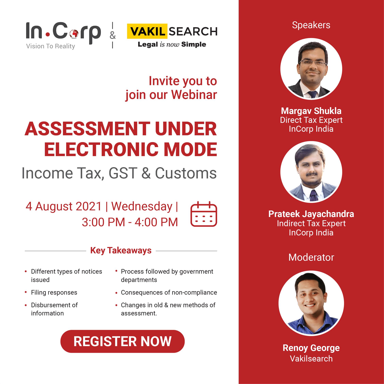Income tax and gst notices invite