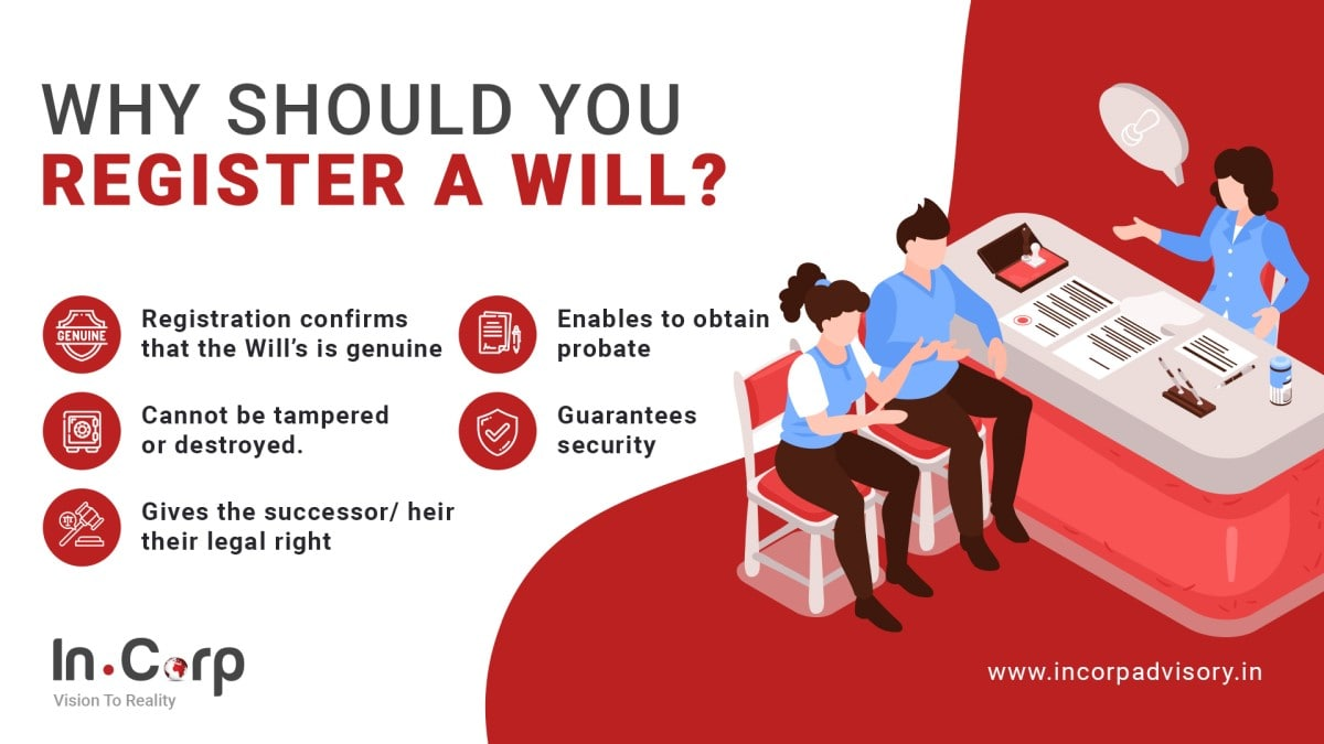Why should you register a will infographic